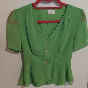 Green wilfred top